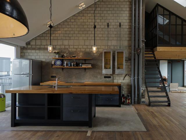 k chen industrial kitchen berlin by increart universale baukunst