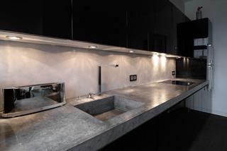 Lithic, Arbeitsplatte aus Beton - Industrial - Kitchen - Hamburg ... | {Arbeitsplatte beton 14}