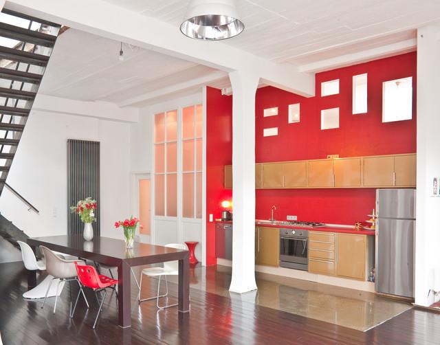 loft industrial kitchen cologne by kern fotografie. Black Bedroom Furniture Sets. Home Design Ideas