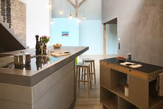 loft kreuzberg industrial k che berlin von markus. Black Bedroom Furniture Sets. Home Design Ideas