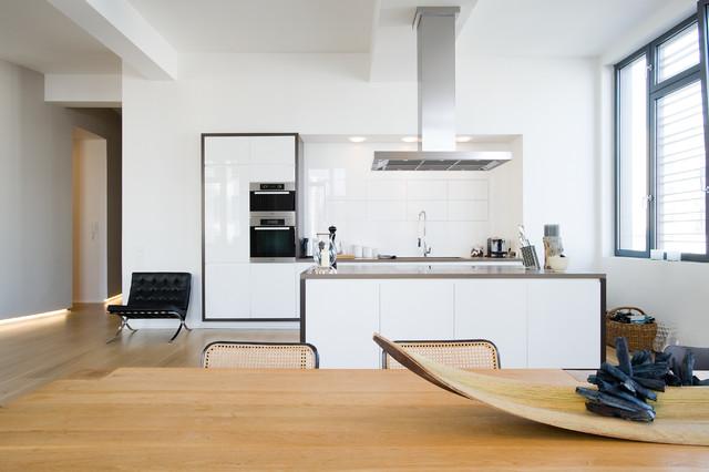 Loft wohnung in winterhude contemporary kitchen hamburg by