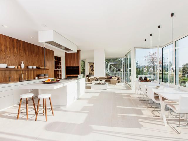 Moderne Sommerküchen : Modernes penthouse mit dachterrasse und sommerküche modern