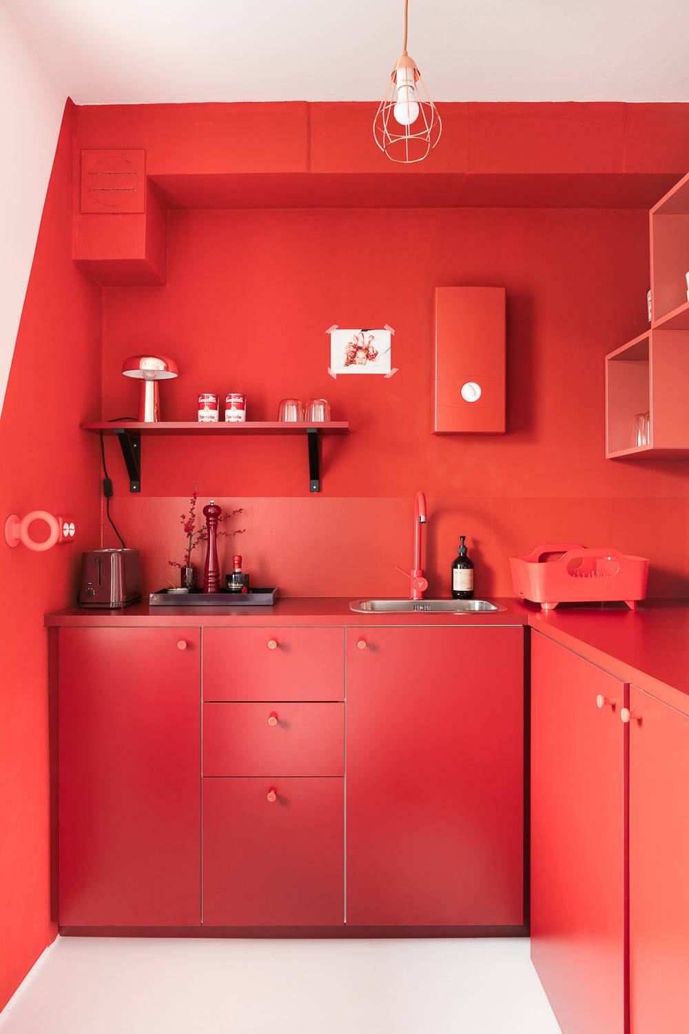 75 Beautiful Small Red Kitchen Pictures Ideas April 2021 Houzz