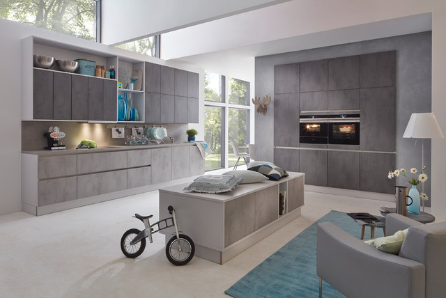 musterring k che mr2850 farben chromix dunkel chromix silber modern k che. Black Bedroom Furniture Sets. Home Design Ideas