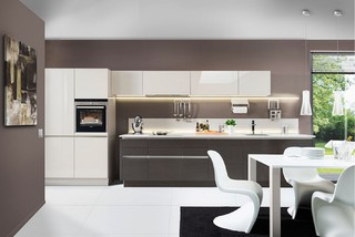 Nolte Glas Tec Plus Sahara Hochglanz Contemporary Kitchen