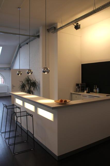 Bar für küche  Office Loft Kreuzberg - Espresso Bar - Minimalistisch - Küche ...