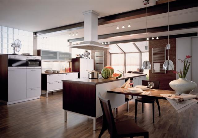 Oligo Gatsby offene Küche mit Esstisch - Modern - Küche ...