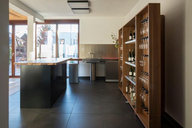 Weinregal für küche  Referenzfotos - bulthaup Küche mit Weinregal