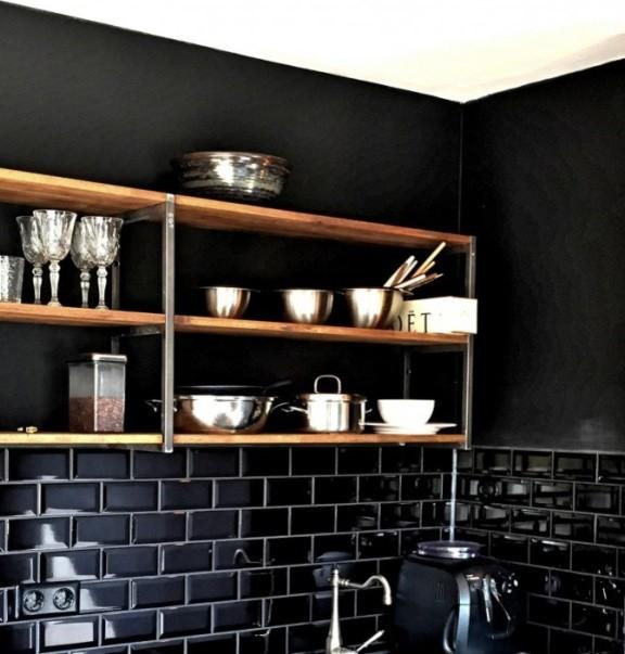 Hängeregal küche  Stahl-Hängeregal