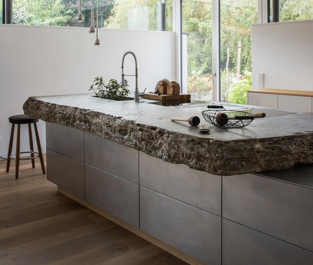 stein stahl contemporary kitchen munich by werkhaus. Black Bedroom Furniture Sets. Home Design Ideas