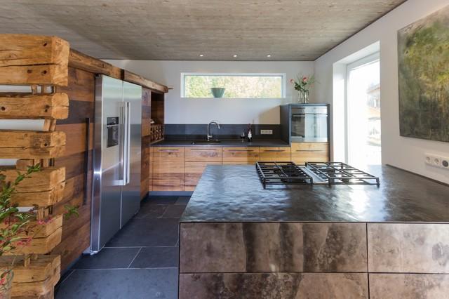 Rustikal modern küche  Kuche Im Landhausstil Modern Rustikal Holz Moebel - Design