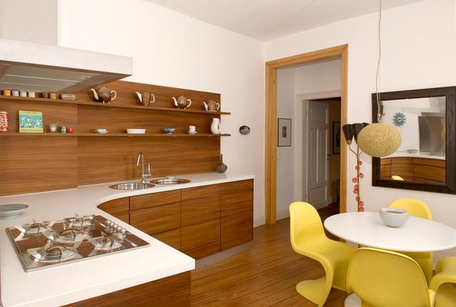 Wohnküche Frankfurt wohnküche mit massivem nussholz modern küche frankfurt am