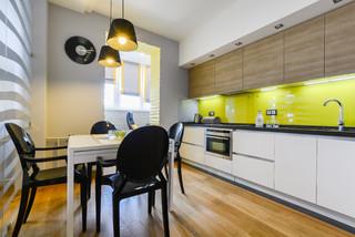 Концепция серого コンテンポラリー-キッチン