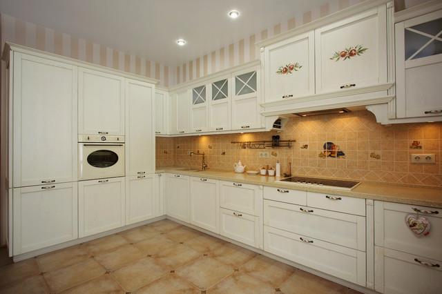 Прямые кухни в стиле прованс
