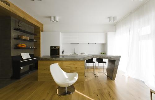объединение кухни и гостиной фото