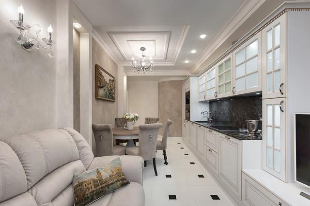 f8da271ebd6e8 Реализованный проект квартиры в стиле итальянской классики в центре  Петербурга - Классический - Кухня - Санкт-Петербург - от эксперта Sergei  Savateev