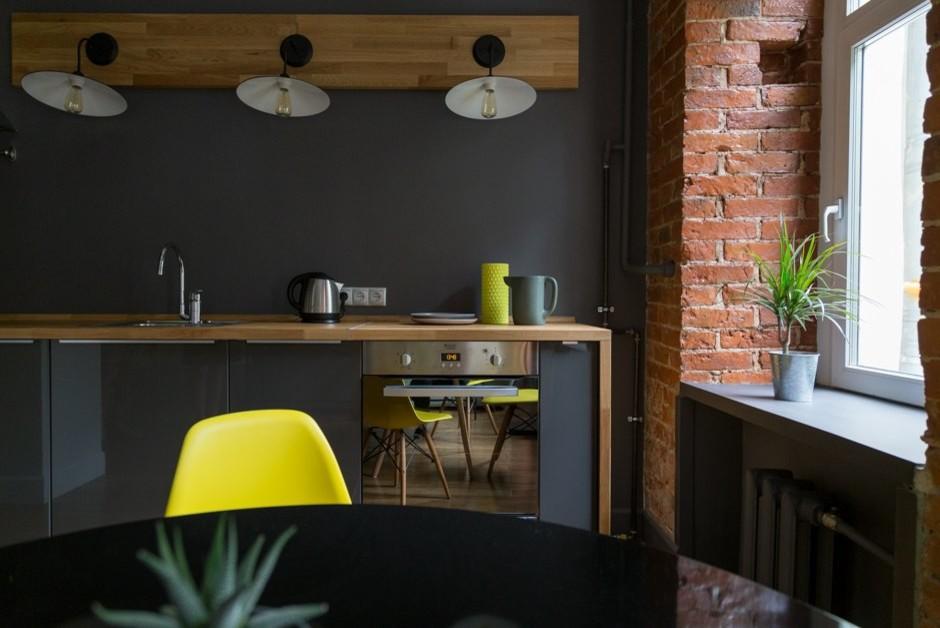 Идея дизайна: кухня среднего размера в современном стиле
