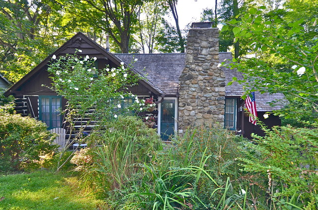 1934 Lake Mohawk Nj Log Cabin For Sale Rustic Landscape