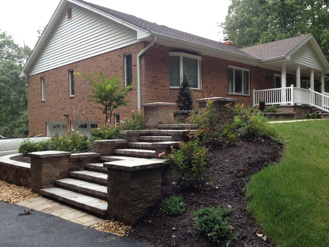 1980s ranch front yard makeover- before and after - traditional - landscape - dc metro