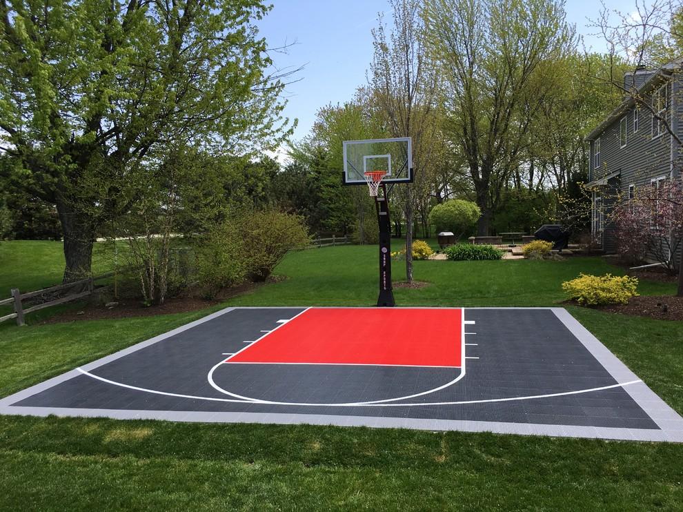 26'x26' SnapSports® Backyard Basketball Court ...
