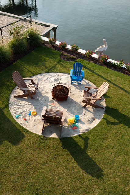 Firepit contemporary landscape