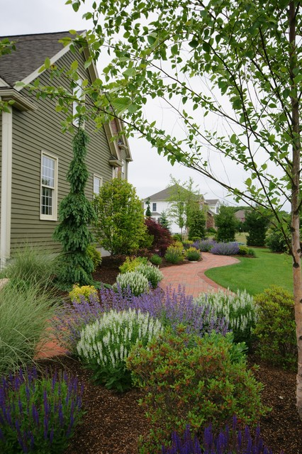 A Front Foundation Landscape Makeover Traditional