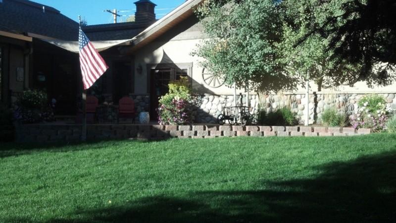 A front patio, Martini Deck