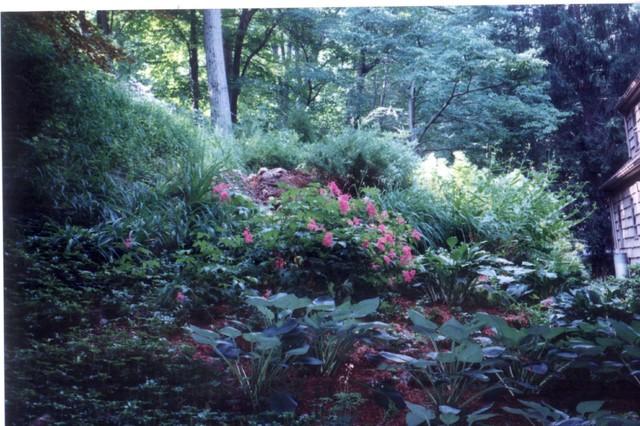 A Hillside Shade Garden Rustic Landscape New York