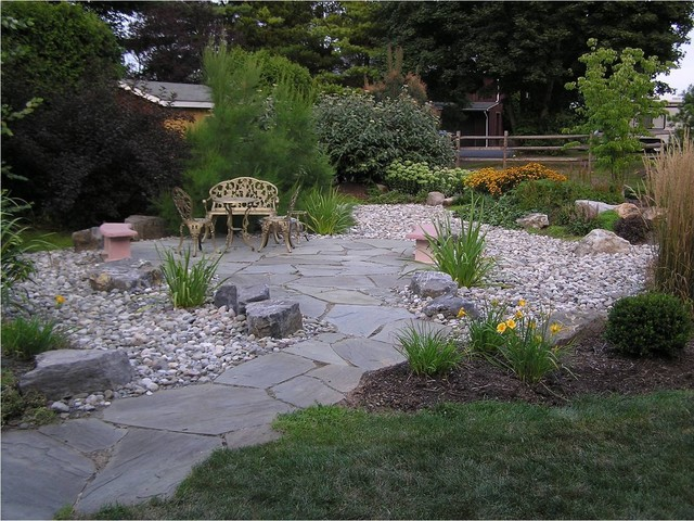 A Large French Drain Solution Traditional Landscape