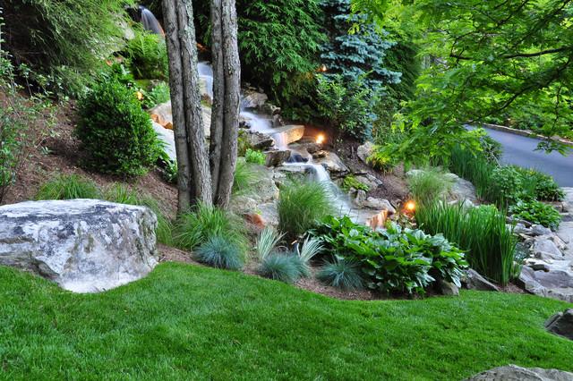 a mountain landscape modern garden charlotte by j nell