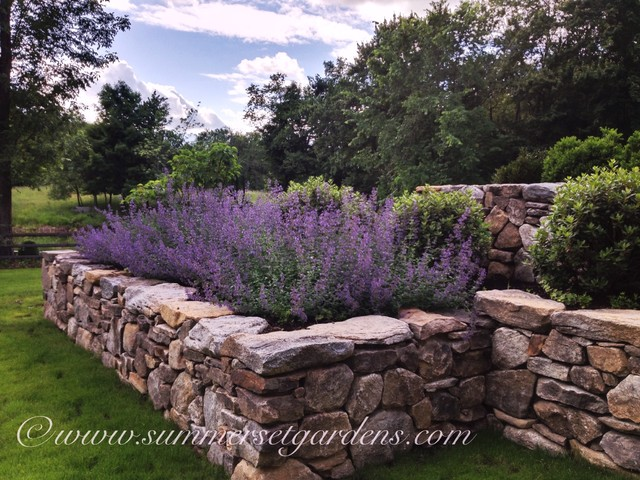 A Rustic New England Stone Wall and Perennial Garden ...