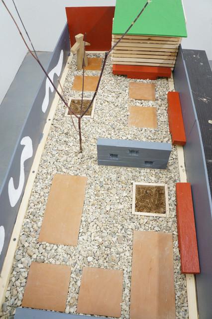A Scaled Garden Model Facilitates the Design Process modern-landscape