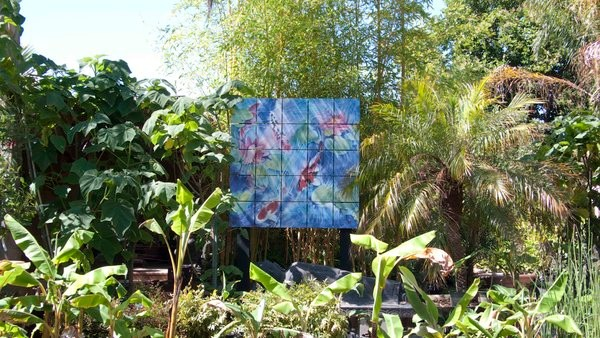 A tile Mural Floating in the Landscape tropical landscape