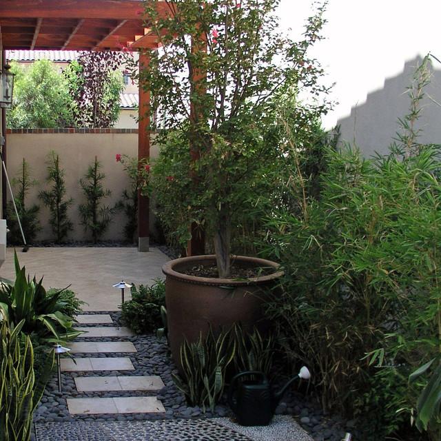 A Tropical Modern Sideyard contemporary-landscape
