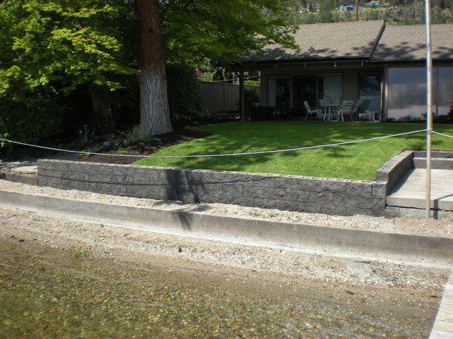 Acid Stain your Concrete Block Retaining Wall by MODE