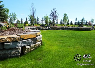 Acreage estate project rustic garden edmonton by - Using stone in rustic gardens elegance and drama ...