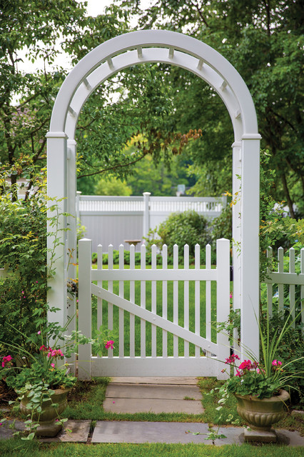 ActiveYards Vinyl Fence Arbor and Gate - Traditional