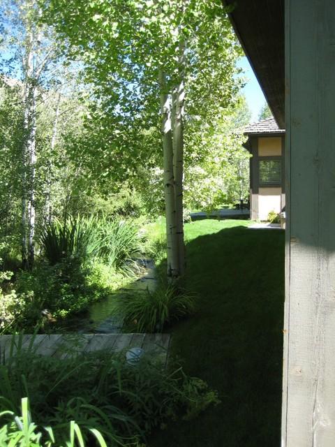 Adjacent Garden and Creek traditional-landscape