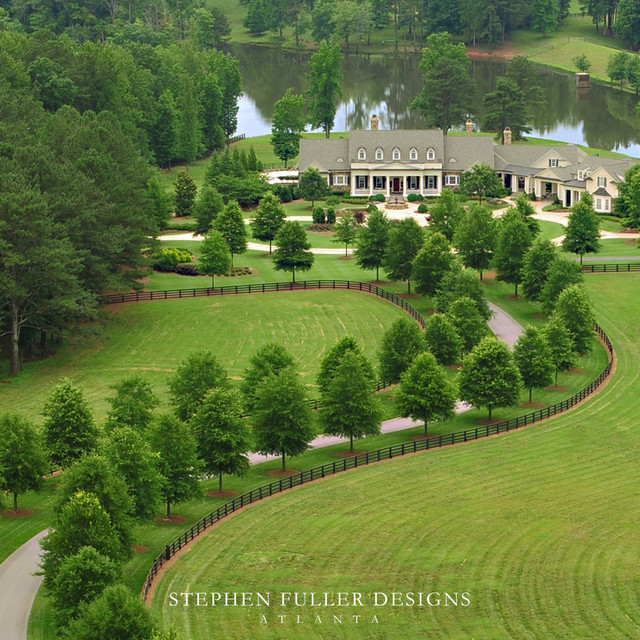 Aerial view traditional landscape atlanta by for Home garden design atlanta