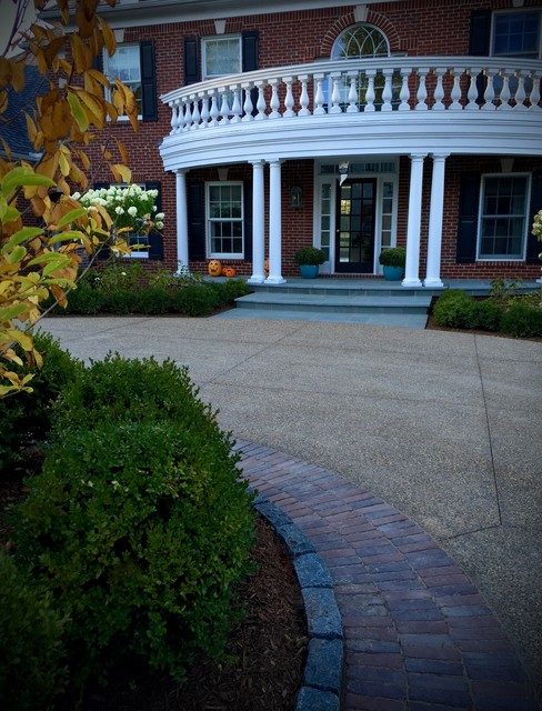 After Front Entrance amp Circular Driveway Traditional