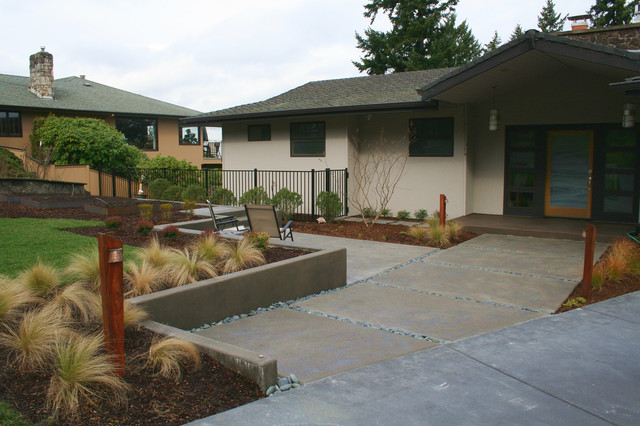 garden design with after new front yard patio contemporary landscape portland with landscaping ideas for - Front Yard Patio Ideas