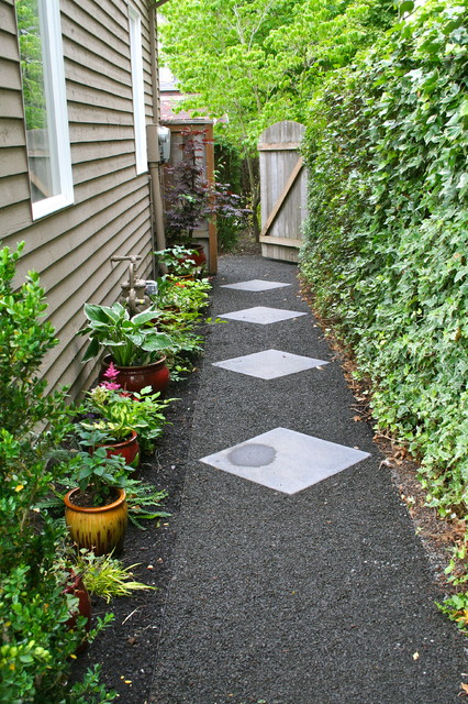 AFTER: Side yard path - Traditional - Landscape - Portland ... on Side Yard Path Ideas id=81702