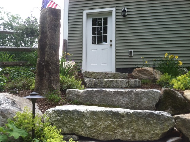 Landscape Edging Rustic : Rustic touch of stone landscape edging pictures to pin on