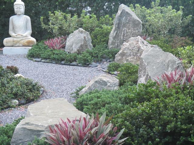 Aisian Inspired Garden Rock Garden Asian Landscape Miami