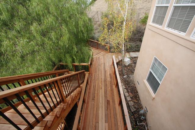 Alamo  redwood deck and exterior contemporary-landscape