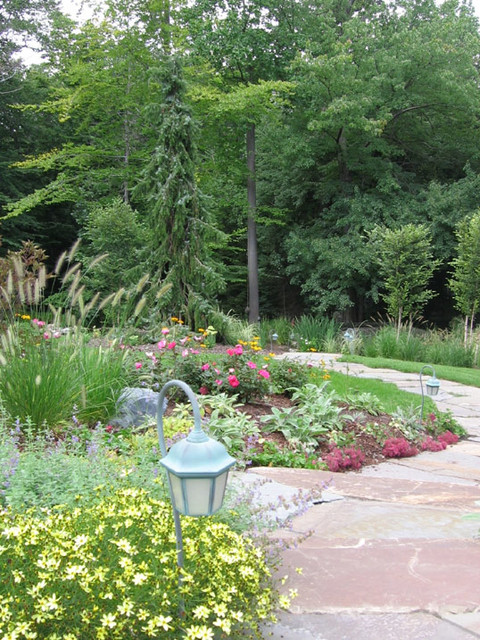 Alpine nj natural landscape design walkway traditional for Natural garden designs