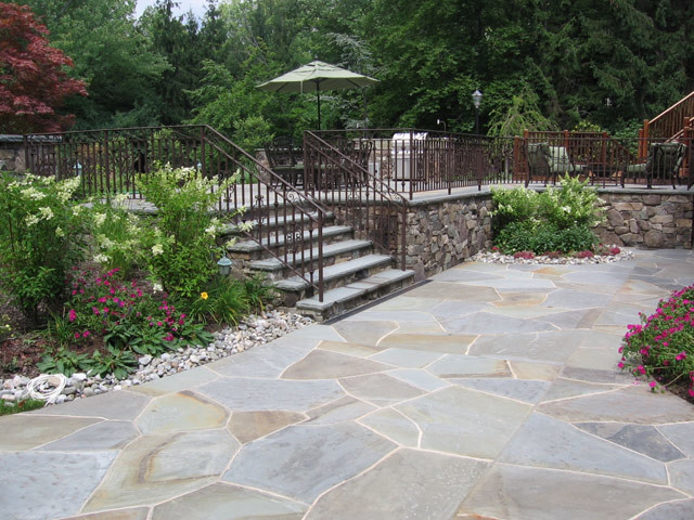 Alpine Nj Natural Stone Outdoor Patio And Landscape Design Traditional