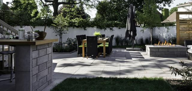 Am nagement de cour arri re landscaping design - Jardin contemporain design saint denis ...