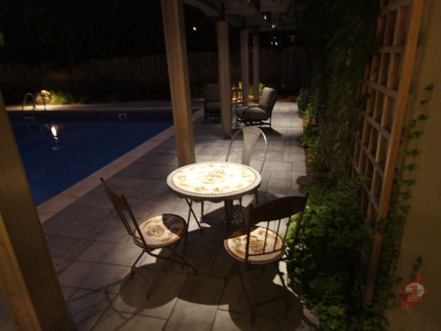 An Asian inspired landscape and new pool decking asian-landscape