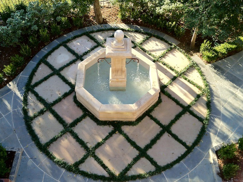 Antique French fountain & patio